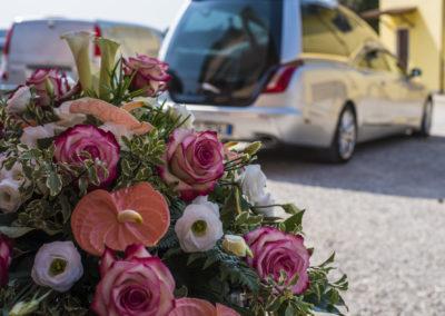 Composizione floreale funebre